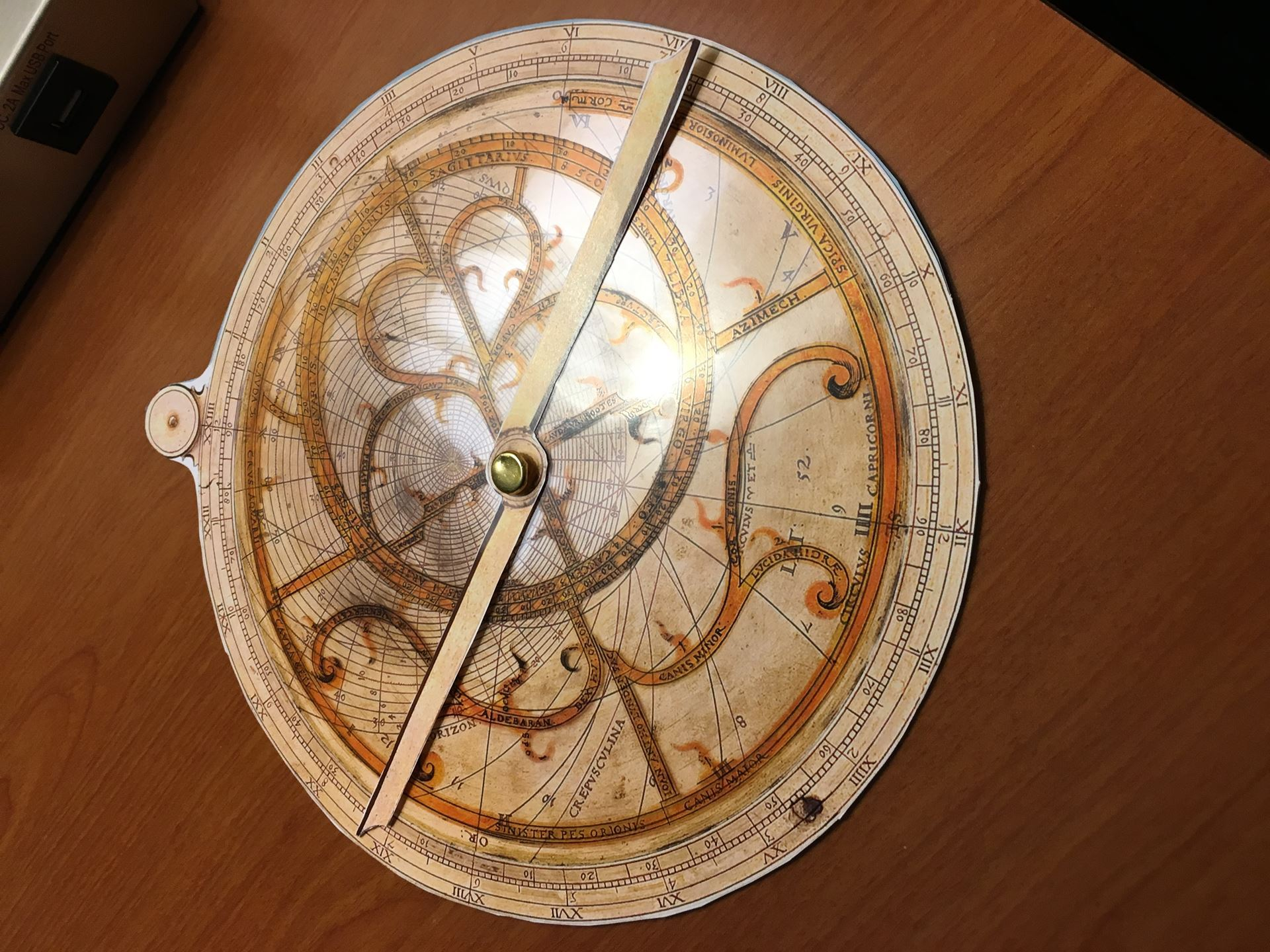 A paper astrolabe craft